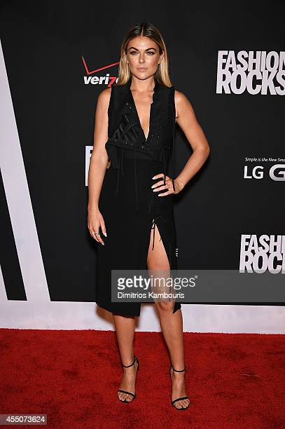 Actress Serinda Swan attends Fashion Rocks 2014 presented by Three Lions Entertainment at the Barclays Center of Brooklyn on September 9 2014 in New...