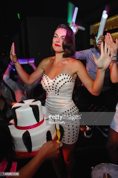 Actress Serinda Swan celebrates her birthday at the Gallery Nightclub at the Planet Hollywood Resort Casino on July 20 2012 in Las Vegas Nevada