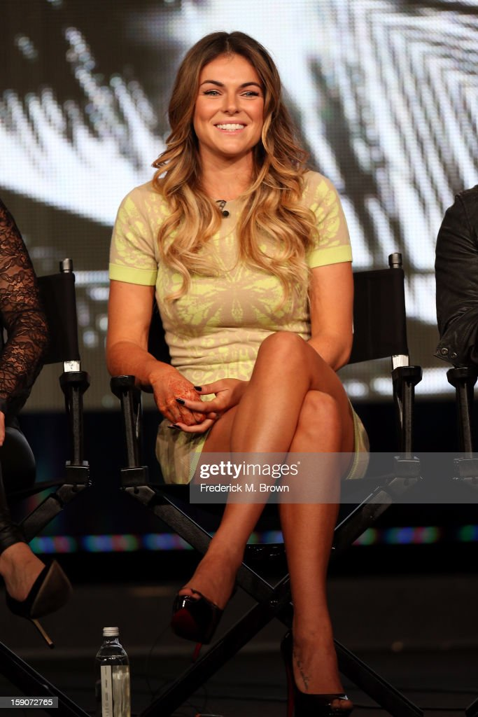 Actress Serinda Swan speaks onstage at the 'Graceland' panel discussion during the USA portion of the 2013 Winter TCA Tour- Day 4 at the Langham Hotel on January 7, 2013 in Pasadena, California.
