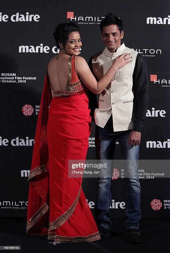 Actress Shahana Goswami and Devesh Ranjan arrive for the marie claire Asia Star Awards during the 18th Busan International Film Festival on October 5, 2013 in Busan, South Korea.