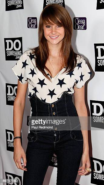 Actress Shailene Woodley arrives at DoSomethingorg Celebrating The Power Of Youth at Madame Tussauds on August 8 2009 in Hollywood California