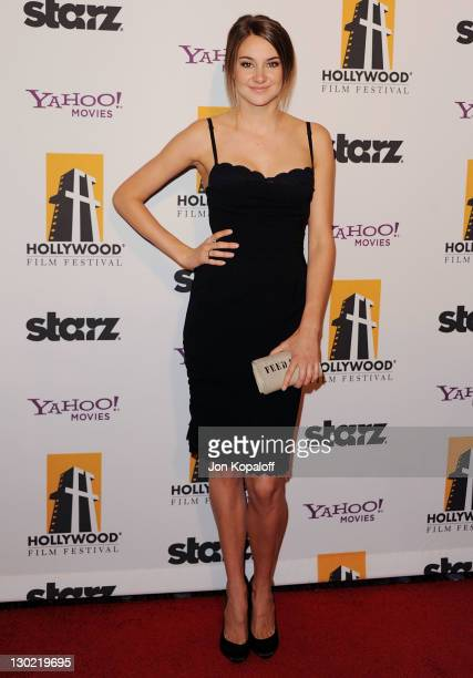 Actress Shailene Woodley arrives at the 15th Annual Hollywood Film Awards Gala at The Beverly Hilton hotel on October 24 2011 in Beverly Hills...