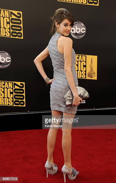 Actress Shailene Woodley arrives at the 2008 American Music Awards held at Nokia Theatre LA LIVE on November 23 2008 in Los Angeles California