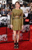 Actress Shailene Woodley arrives at the 2014 MTV Movie Awards at Nokia Theatre LA Live on April 13 2014 in Los Angeles California