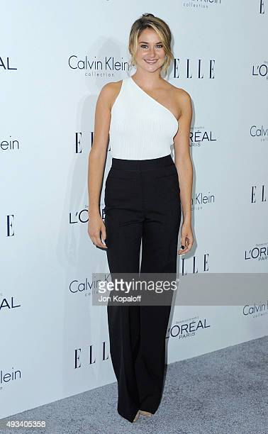 Actress Shailene Woodley arrives at the 22nd Annual ELLE Women In Hollywood Awards at Four Seasons Hotel Los Angeles at Beverly Hills on October 19...