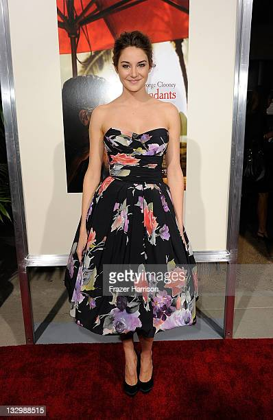 Actress Shailene Woodley arrives at the Premiere Of Fox Searchlight's 'The Descendants' at AMPAS Samuel Goldwyn Theater on November 15 2011 in...