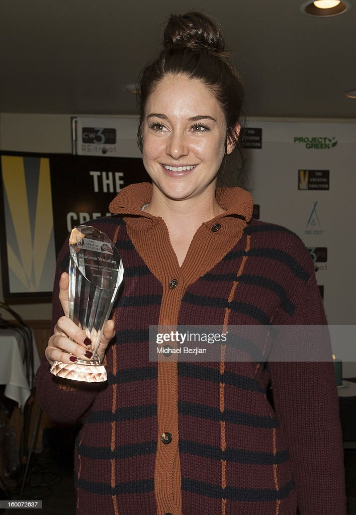 Actress Shailene Woodley attends 2013 Creative Coalition Spotlight Initiative Gala Awards Dinner - 2013 Sundance Film Festival at The Sky Lodge on January 19, 2013 in Park City, Utah.