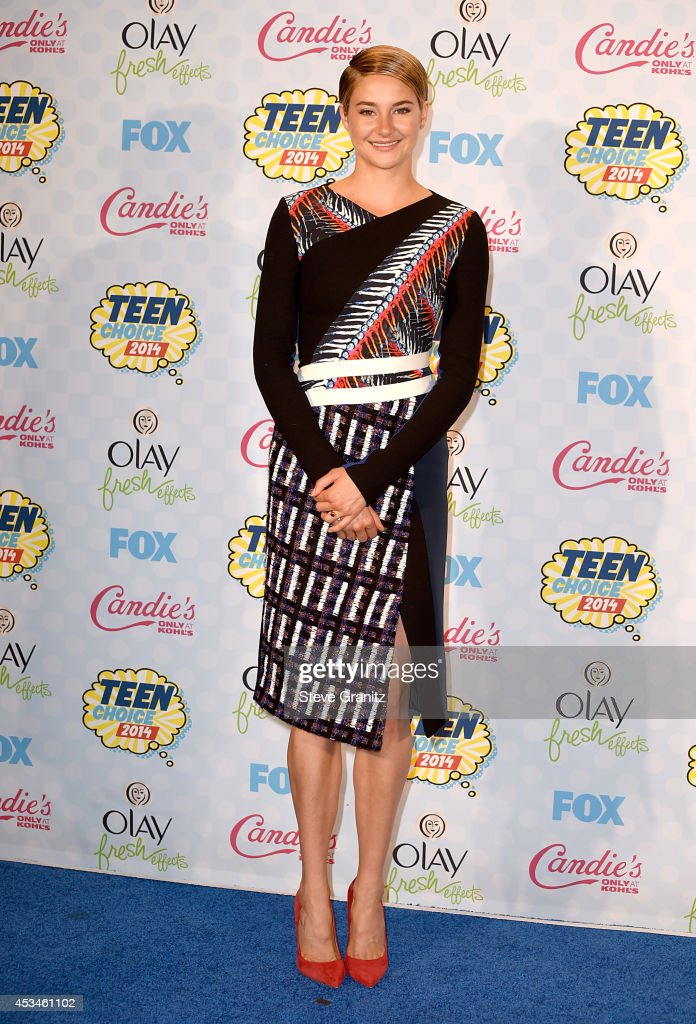 Actress Shailene Woodley attends FOX's 2014 Teen Choice Awards at The Shrine Auditorium on August 10, 2014 in Los Angeles, California.