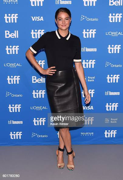 Actress Shailene Woodley attends 'Snowden' press conference during the 2016 Toronto International Film Festival at TIFF Bell Lightbox on September 10...