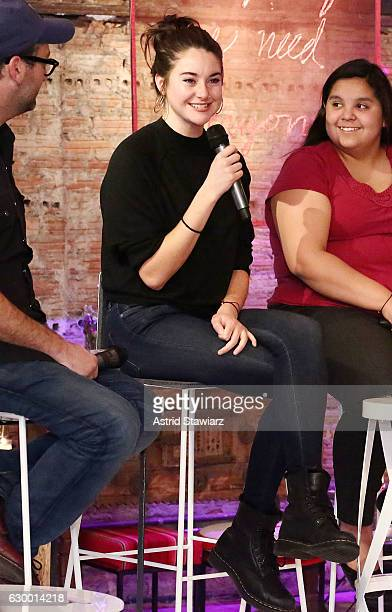 Actress Shailene Woodley attends Stand With Standing Rock Benefit at ABC Home Carpet on December 15 2016 in New York City