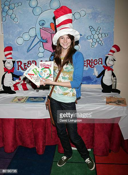 Actress Shailene Woodley attends the 11th annual Read Across America program at the Compton Unified School District Education Service Center on March...