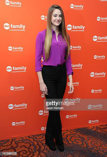 Actress Shailene Woodley attends the 2012 ABC Family Upfront at the Mandarin Oriental Hotel on March 19 2012 in New York City