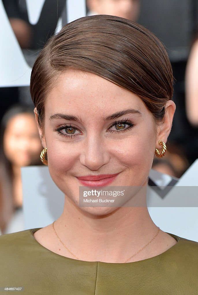 Actress Shailene Woodley attends the 2014 MTV Movie Awards at Nokia Theatre L.A. Live on April 13, 2014 in Los Angeles, California.