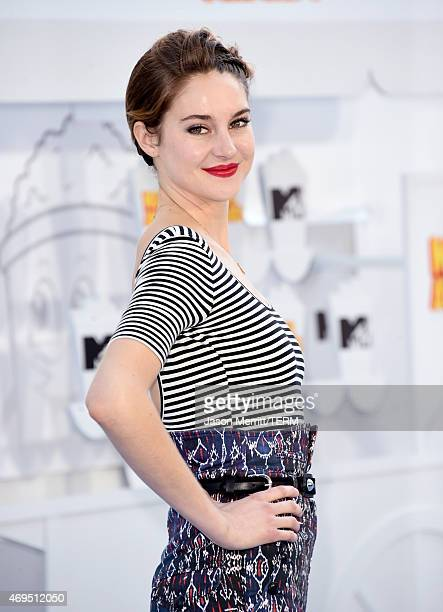 Actress Shailene Woodley attends The 2015 MTV Movie Awards at Nokia Theatre LA Live on April 12 2015 in Los Angeles California