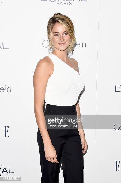 Actress Shailene Woodley attends the 22nd Annual ELLE Women in Hollywood Awards at Four Seasons Hotel Los Angeles at Beverly Hills on October 19 2015...