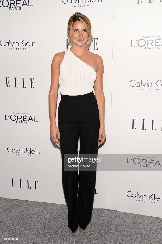 Actress <a gi-track='captionPersonalityLinkClicked' href=/galleries/search?phrase=Shailene+Woodley&family=editorial&specificpeople=676833 ng-click='$event.stopPropagation()'>Shailene Woodley</a> attends the 22nd Annual ELLE Women in Hollywood Awards at Four Seasons Hotel Los Angeles at Beverly Hills on October 19, 2015 in Los Angeles, California.