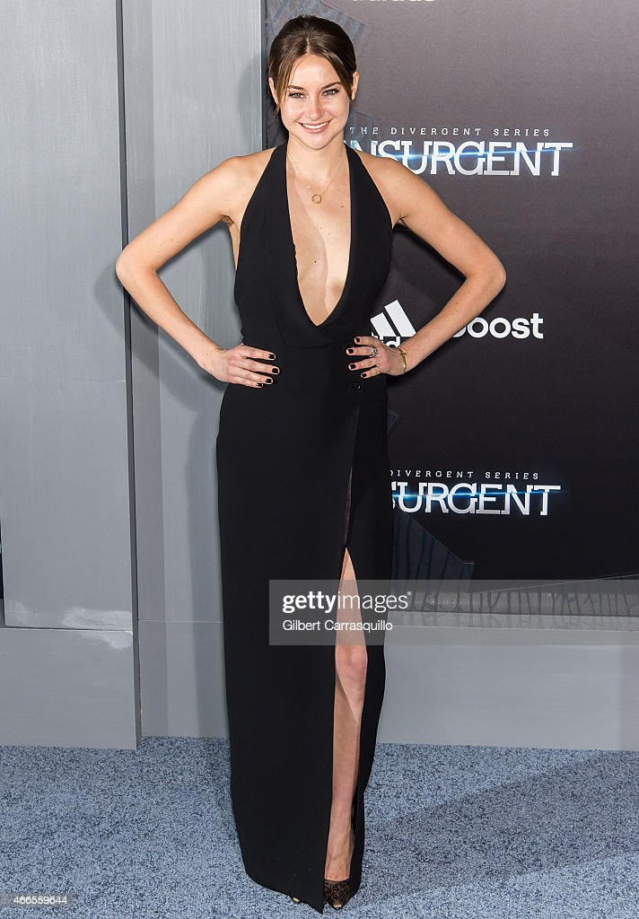 Actress <a gi-track='captionPersonalityLinkClicked' href=/galleries/search?phrase=Shailene+Woodley&family=editorial&specificpeople=676833 ng-click='$event.stopPropagation()'>Shailene Woodley</a> attends The Divergent Series' 'Insurgent' New York premiere at Ziegfeld Theater on March 16, 2015 in New York City.
