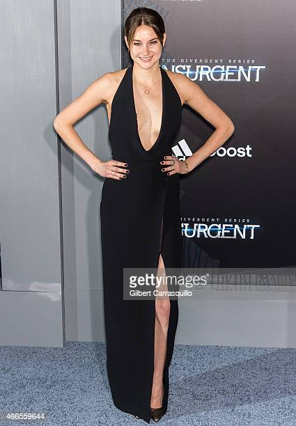 Actress Shailene Woodley attends The Divergent Series' 'Insurgent' New York premiere at Ziegfeld Theater on March 16 2015 in New York City