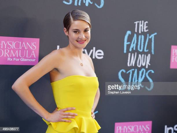 Actress Shailene Woodley attends 'The Fault In Our Stars' premiere at Ziegfeld Theater on June 2 2014 in New York City