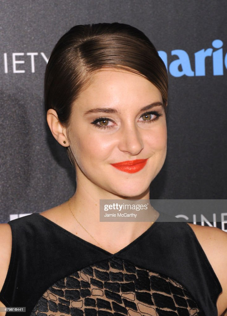 Actress Shailene Woodley attends the Marie Claire & The Cinema Society screening of Summit Entertainment's 'Divergent' at Hearst Tower on March 20, 2014 in New York City.