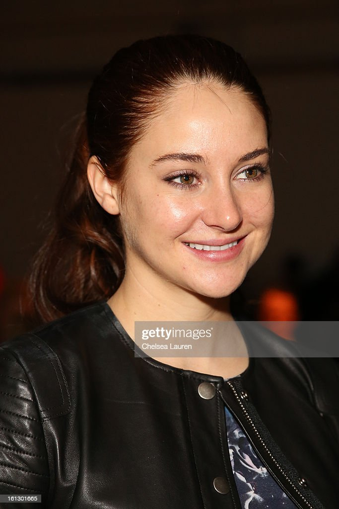 Actress <a gi-track='captionPersonalityLinkClicked' href=/galleries/search?phrase=Shailene+Woodley&family=editorial&specificpeople=676833 ng-click='$event.stopPropagation()'>Shailene Woodley</a> attends the Rebecca Taylor fall 2013 fashion show during Mercedes-Benz Fashion Week at Highline Stages on February 9, 2013 in New York City.