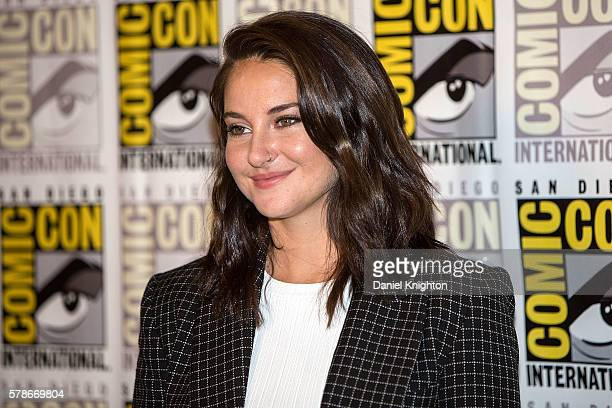 Actress Shailene Woodley attends the 'Snowden' press line during ComicCon International 2016 Day 1 at Hilton Bayfront on July 21 2016 in San Diego...