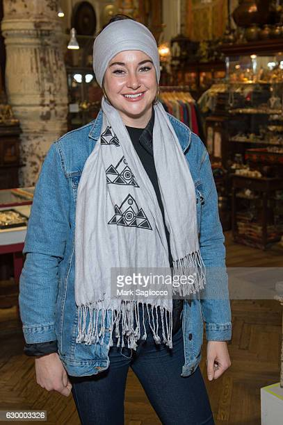 Actress Shailene Woodley attends the Stand With Standing Rock Benefit at ABC Home Carpet on December 15 2016 in New York City