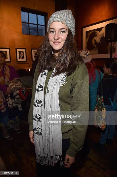 Actress Shailene Woodley attends the Standing Rock Event at Zoom Restaurant on January 23 2017 in Park City Utah