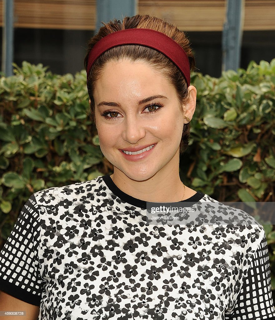 Actress Shailene Woodley attends the 'The Fault In Our Stars' reunion and 'Amsterdam' bench dedication ceremony at Fox Studio Lot on November 20 2014...