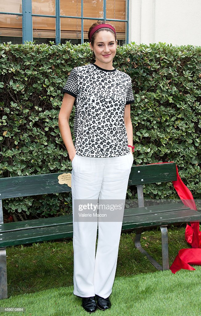 Actress Shailene Woodley attends the Twentieth Century Fox Home Entertainment's 'The Fault In Our Stars' Reunion And Bench Dedication Ceremony at Fox...