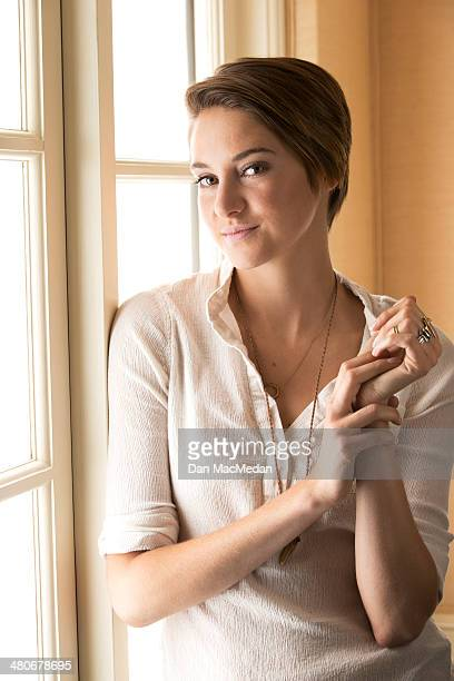 Actress Shailene Woodley is photographed for USA Today on March 8 2014 in Los Angeles California