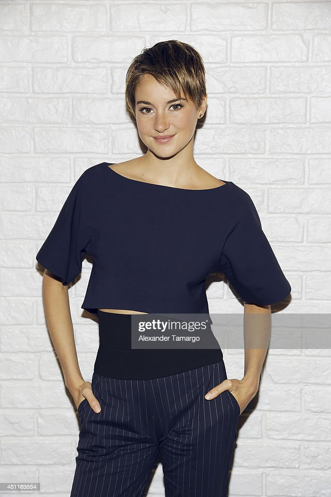 Actress Shailene Woodley poses for a portrait On the set of Despierta America on May 7 2014 in Miami Florida