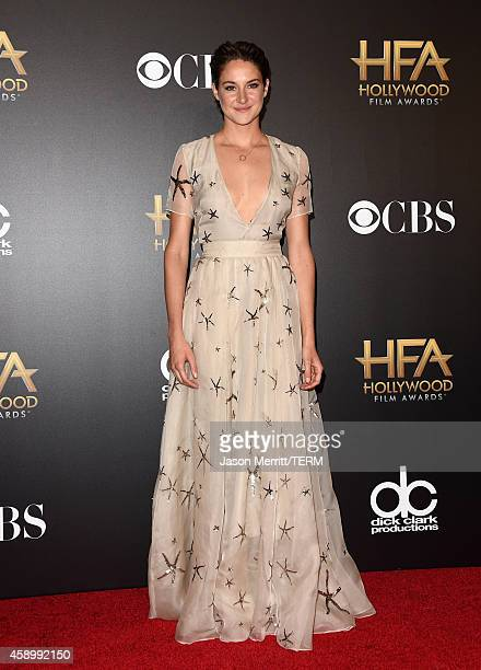 Actress Shailene Woodley poses in the press room during the 18th Annual Hollywood Film Awards at The Palladium on November 14 2014 in Hollywood...
