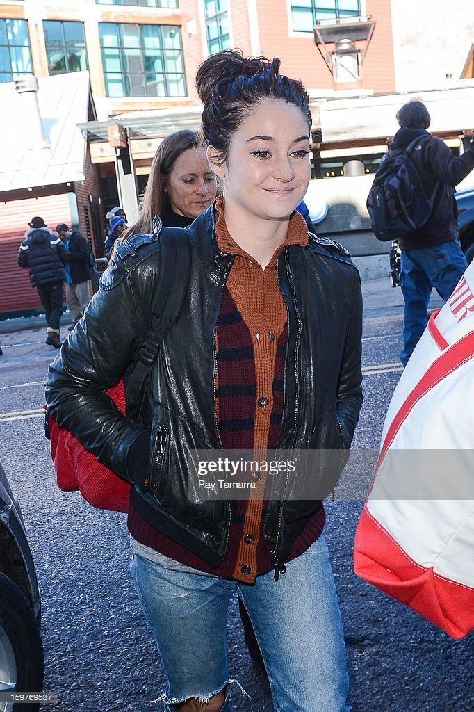 Actress Shailene Woodley walks in Park City on January 19, 2013 in Park City, Utah.