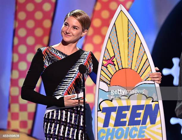 Actress Shailene Woodley winner of Best Actress Action onstage during FOX's 2014 Teen Choice Awards at The Shrine Auditorium on August 10 2014 in Los...