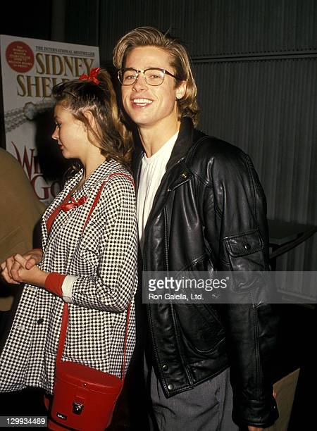 Actress Shalane McCall and actor Brad Pitt attend the Screening of the CBS Miniseries 'Windmills of the Gods' on March 2 1988 at the DGA Theatre in...