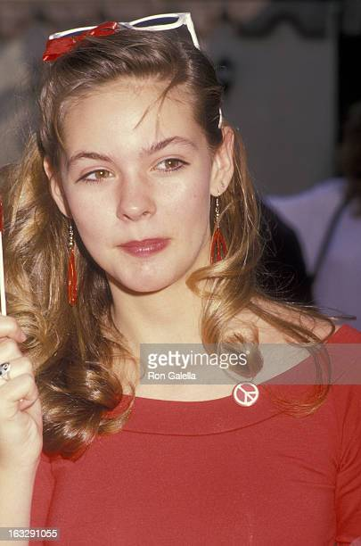 Actress Shalane McCall attends Scott Valentine's Valentine's Day Party on February 9 1988 at L'Ermitage Hotel in Beverly Hills California