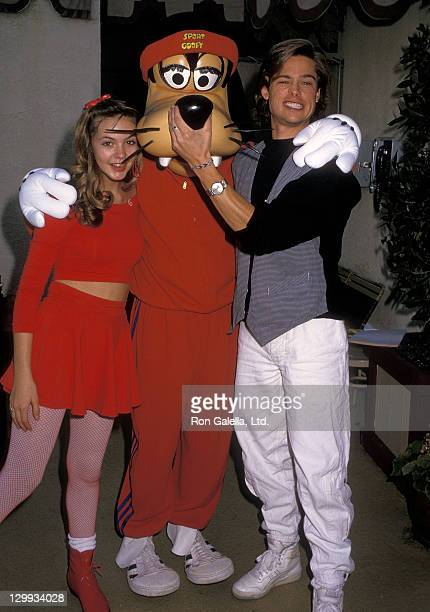 Actress Shalane McCall Goofy and actor Brad Pitt attend the Athletes and Entertainers for Kids Hosts 'Bringing Hope to Kids with Serious Illnesses'...