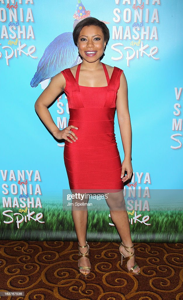Actress Shalita Grant attends the after party for 'Vanya And Sonia And Masha And Spike' Broadway opening night at Gotham Hall on March 14, 2013 in New York City.