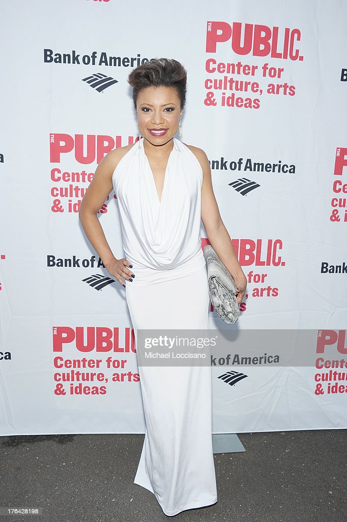 Actress Shalita Grant attends The Public Theater's 'Love's Labour's Lost' Opening Nght at Delacorte Theater on August 12, 2013 in New York City.