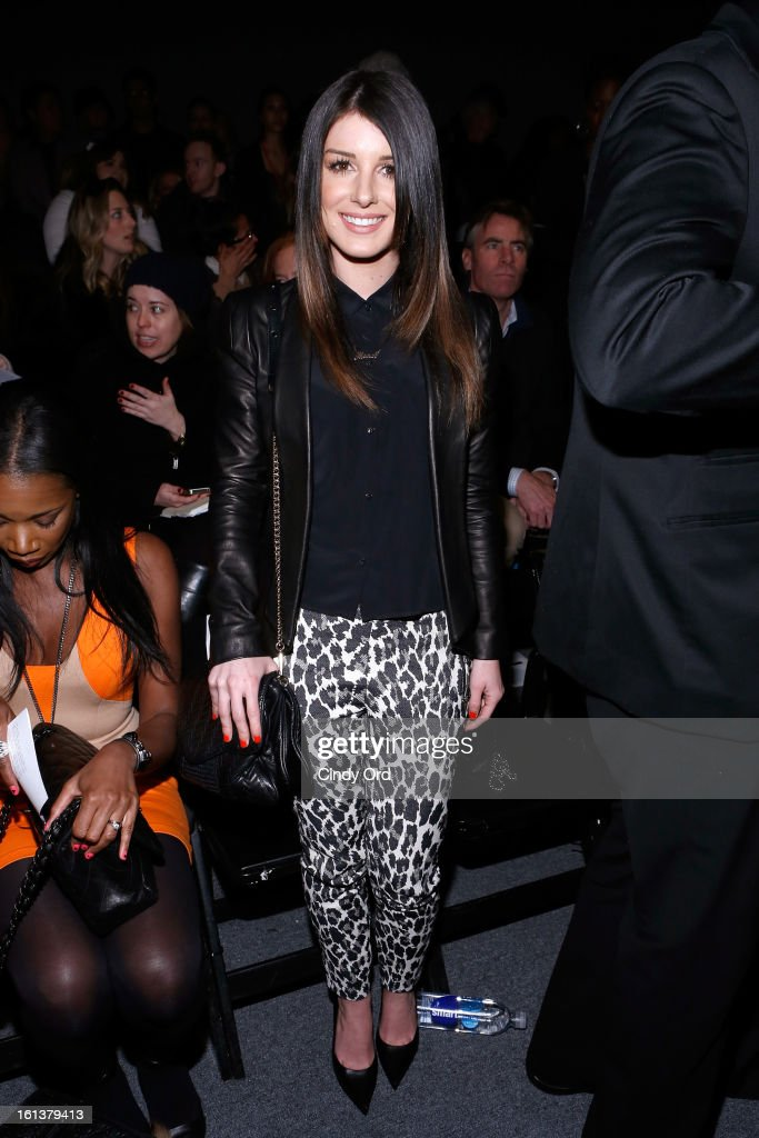 Actress Shanae Grimes attends the Tracy Reese Fall 2013 fashion show during Mercedes-Benz Fashion Week at The Studio at Lincoln Center on February 10, 2013 in New York City.