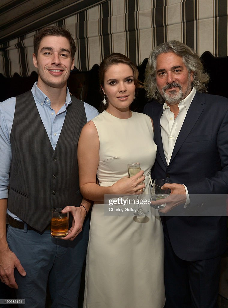 Actress Shane Lynch (L), producer Mitch Glazer (R) and guest (L) attend the launch celebration of the Banana Republic L'Wren Scott Collection hosted by Banana Republic, L'Wren Scott and Krista Smith at Chateau Marmont on November 19, 2013 in Los Angeles, California.