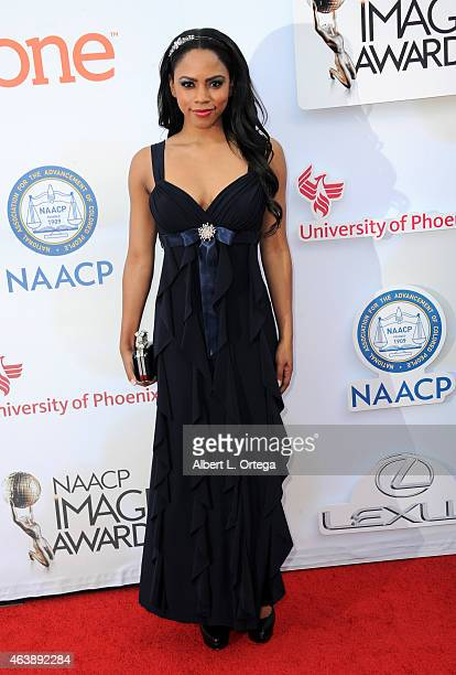 Actress Shanica Knowles attends the 46th Annual NAACP Image Awards held at the Pasadena Civic Auditorium on February 6 2015 in Pasadena California