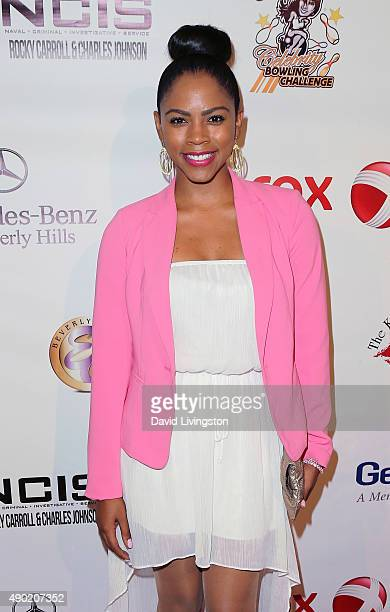 Actress Shanica Knowles attends the KIS Foundation's 12th Annual Celebrity Bowling Challenge at PINZ Entertainment Center on September 26 2015 in...