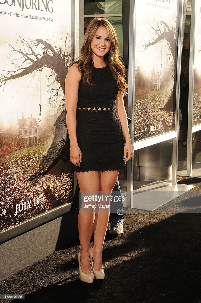 Actress Shanley Caswell arrives at 'The Conjuring' Los Angeles Premiere at the ArcLight Cinemas Cinerama Dome on July 15, 2013 in Hollywood, California.