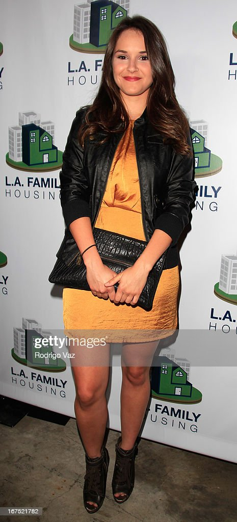 Actress Shanley Caswell arrives at the L.A. Family Housing Awards 2013 at Book Bindery on April 25, 2013 in Culver City, California.