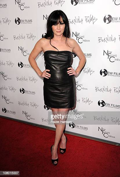 Actress Shannen Doherty arrives at the premiere of New Films Cinemas 'Burning Palms' at the Arclight Hollywood on January 12 2011 in Los Angeles...