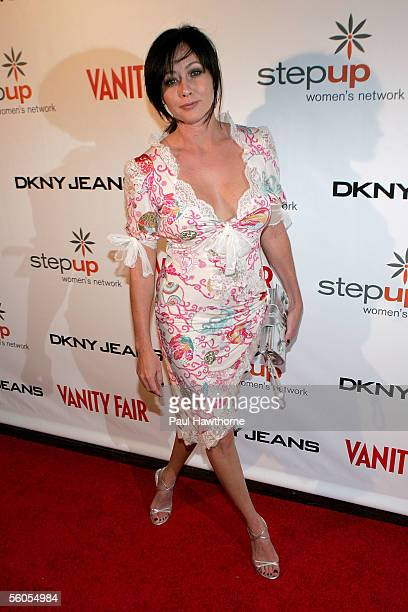 Actress Shannen Doherty attends an Alanis Morissette concert to benefit Step Up Women's Network at the Hiro Ballroom in the Maritime Hotel November 1...
