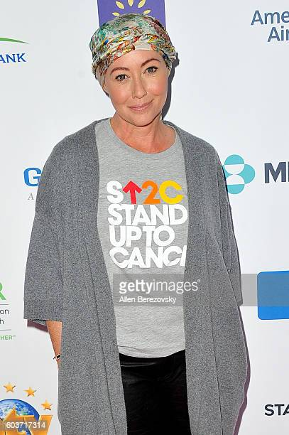 Actress Shannen Doherty attends Hollywood Unites for the 5th biennial Stand Up To Cancer A Program of the Entertainment Industry Foundation at Walt...