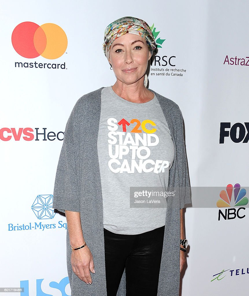 Actress Shannen Doherty attends Stand Up To Cancer 2016 at Walt Disney Concert Hall on September 9, 2016 in Los Angeles, California.